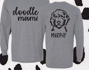 White Doodle Mom Shirt KYAdvWZ