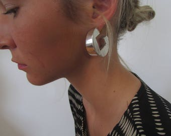 OS Large Sterling Silver Geo Earrings