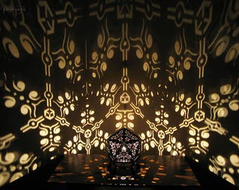 Modern decorative night art icosahedron shadow lamp for relaxing, chill, meditation, unique atmosphere