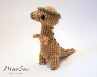 Crochet PATTERN PDF - Amigurumi Dinosaur Pachycephalosaurus - cute crochet amigurumi pattern, dinosaur softie, crochet children's toy, plush