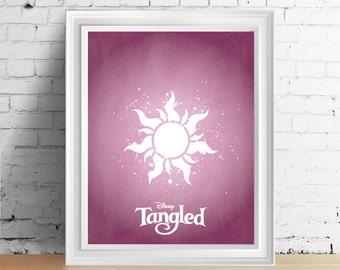 Disney Tangled downloadable digital art print