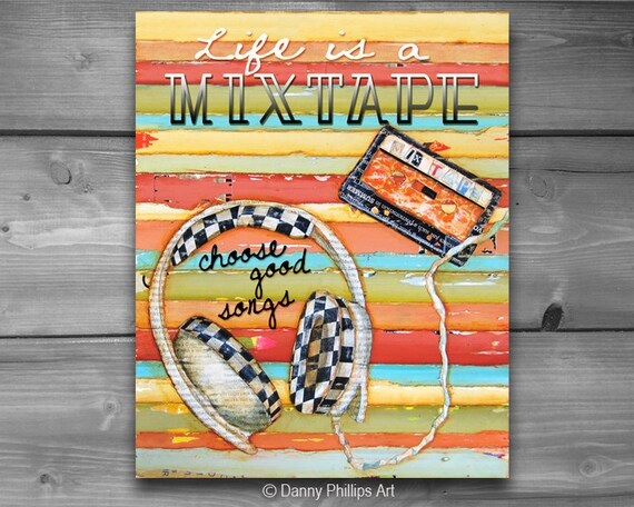 INSTANT DOWNLOAD, Life is a Mixtape - Walkmen, Digital Download, Printable, 8x10 and 11x14