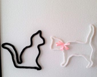 Cat knitting to order, 3 designs and color choice, pet, feline.