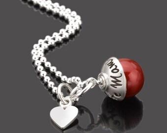 Best Mama 925 silver pendant heart gift mother's Day Gravurschmuck