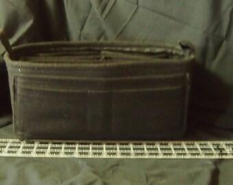 "Purse Organizer Insert 13'l x 6""h x 6""d ...9 Pockets.. LV purse insert bottom shaper.. Black Felt Insert"