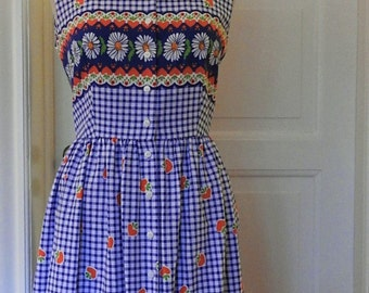 50s 1950s Vintage Inspired Cotton Dress