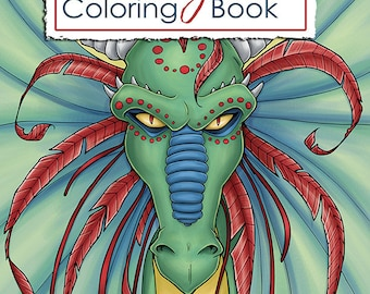 Dragon Coloring Pages For Adults Pdf : Coloring bookmarks printable bookmarks dragon coloring