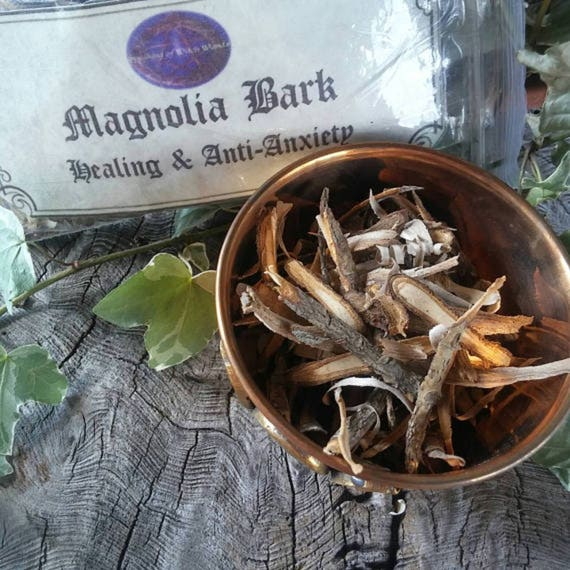 Magnolia Bark - Wood Bark - Healing - Anti Anxiety - Magnolia Wood Bark - Incense - Tree Bark - Witchcraft Supply