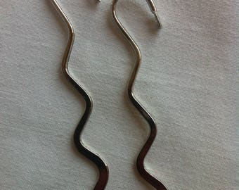 set of 2 bookmarks in silver - length 8 cm