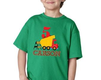 Construction Birthday Party - Dump Truck T-shirt - Boys T-shirt - Construction shirt - Construction Party - Birthday Theme