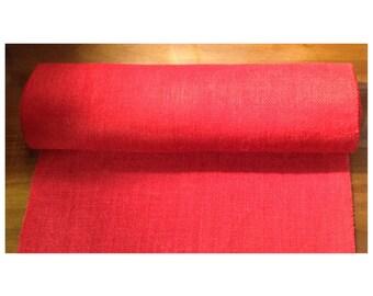 Custom red burlap table runner - holiday table runner - red burlap table runner - 16x108 table runner - dining table runner - rustic runner