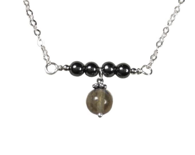 Labradorite & Hematite Necklace