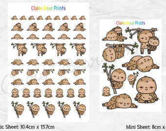 SLOTH Planner Stickers (2 options)