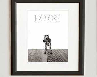 Nursery Decor, Baby animal art, Baby room ideas, Safari animal wall art, Baby Zebra Photo Print