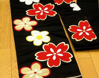 Japanese Kimono / Vintage Silk Obi sash / Nagoya-Obi / Maiko obi/  121504