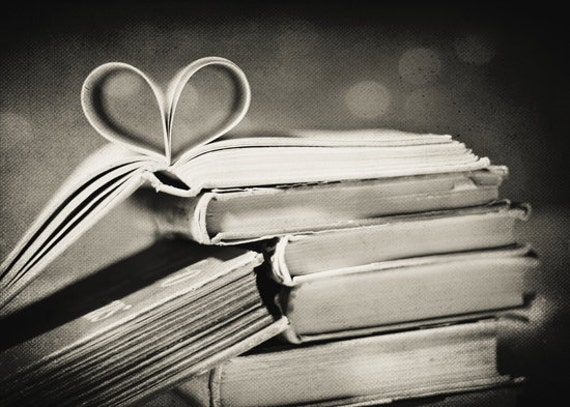 Black And White Photography Vintage Book Love Fine Art