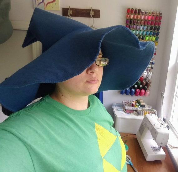 Floppy Blue Wizarding Hat Merino Wool