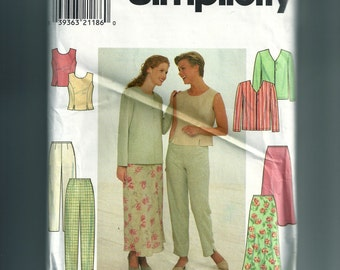 Simplicity Misses' Pants, Jacket, Top, and Skirt Pattern 7970