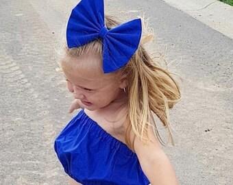 Capri Blue bow.