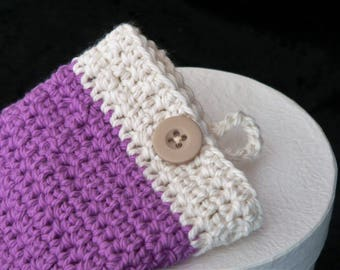 Purple and Cream Cell/Mobile Phone Cover/Cosy