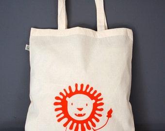 Lion Organic Cotton Tote Bag