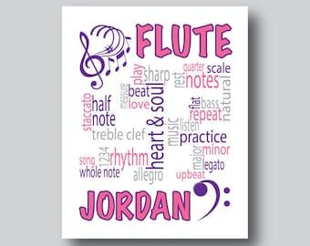 Personalized Musical Gifts, Personalized Music Art Print, Music Inspired Art, Music Artwork, Music Gift, Music Poster, Music Decor, CUSTOM
