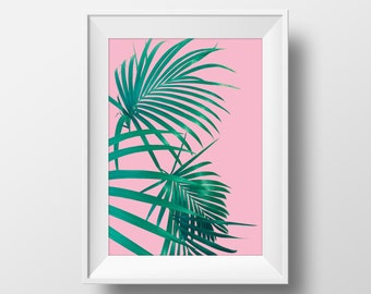Palm Print, Printable Art, Palm Leaf Art, Modern Art, Wall Decor, Wall Art, Digital Download