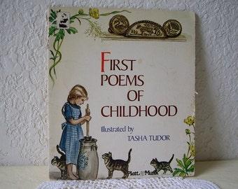 First Poems of Childhood, Illustrated by Tasha Tudor, Paperback, 1967