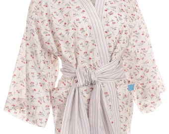 Kimono Isabelle in floral cotton