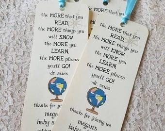 Set of 8 Travel Theme Bookmark Favors / Baby Shower / Birthday Party / Around the World Theme / World Theme / Travel Theme