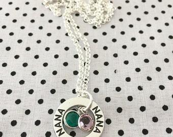 NANA NECKLACE; Grandmothers Necklace; Nana Jewelry; Grandkids; Mom; Jewellery; Jewelry; Mother; Christmas; Mothers Day