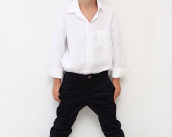Boys pants Boys tailored pants Toddler boy trousers Wedding party Ring bearer First communion Navy blue pants Boys clothes Back to school
