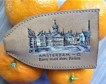 Amsterdam Royal Palace ..  Netherlands Souvenir -- Leather