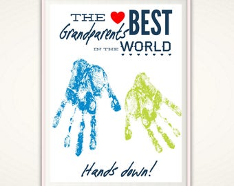 Personalized christmas gifts for grandma gift from grandkids gifts for grandparents personalized grandparents gift christmas gift from grandkids printable diy handprint art from baby negle Image collections