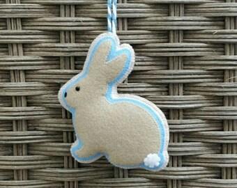 Felt Easter rabbit ornament