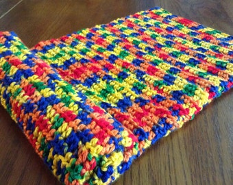 Crochet Rainbow baby afghan, baby shower gift, ready to ship, newborn gift, photo prop,  coming home, gender neutral, boy, girl, bright