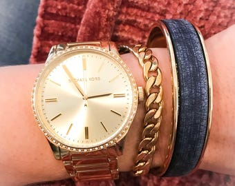 The Denim Cuff Bracelet