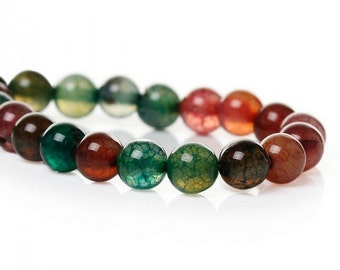 6 mm Grade B Synthetic Tourmaline Beads