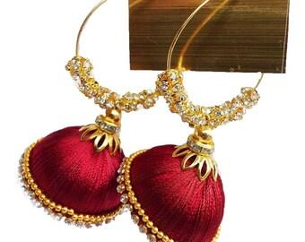 Gunu Handmade silk thread sweet Earring