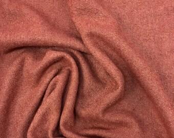 Burnt Sienna Boiled Wool
