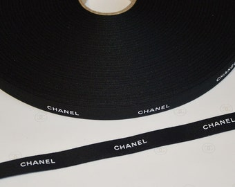 Authentic Chanel black ribbon 1 meter for scrapbooking gift wrapping decoration handmade design jewelry paper design