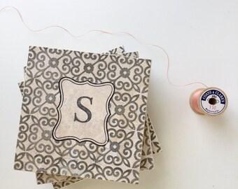 Fixer Upper Decor, Monogram Wedding Gift, Farmhouse Wedding Gift, Classic Wedding, Moroccan coasters