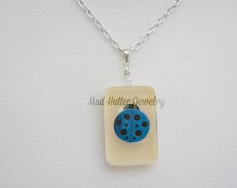 Blue Ladybug Necklace