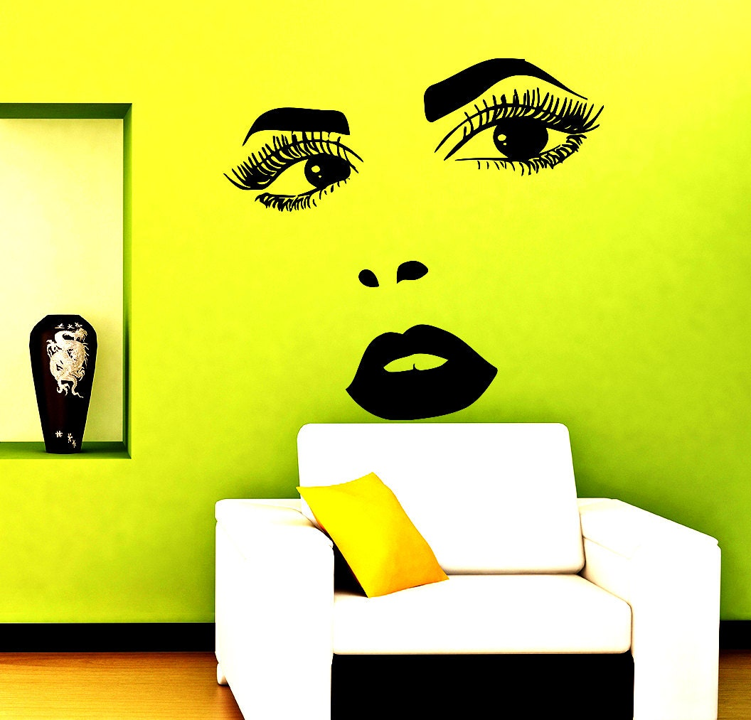 Hairdressing Wall Decals Beauty Salon Decal Hair Vinyl
