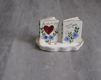 Vintage Mid Century Ceramic Salt and Pepper Shakers - for the Bride