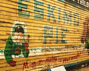 Eskimo Pie, Grand Rapids, Michigan, color photography, ghost sign, Photographers of Michigan, PoE team