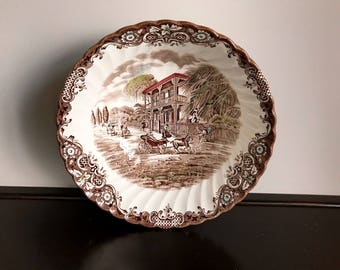 """Johnson Brothers Heritage Hall 8"""" Round Serving Bowl"""