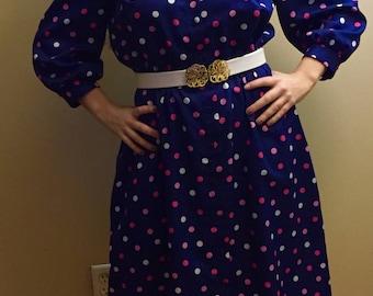 1970's Polka Dot Day Dress