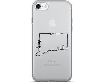 Connecticut Home State - iPhone Case (iPhone 7/7 Plus, iPhone 8/8 Plus, iPhone X)