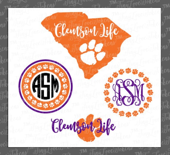 other Design craft Life Clemson Silhouette SVG Paw for and
